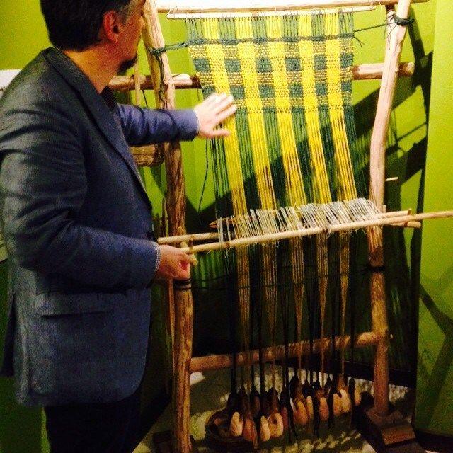 In Lapponia fino al 1950 si usava il telaio a pesi nato nell'era del Bronzo (Museo Archeologico Platina, Piadena - Cremona) #invasionidigitali #idpiadena