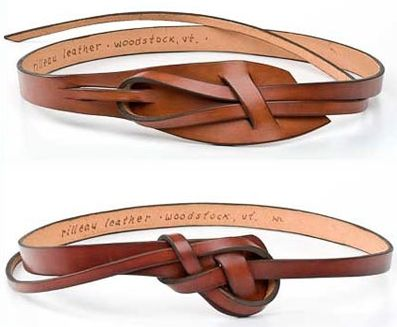 handmade leather knot belts | multiple colors