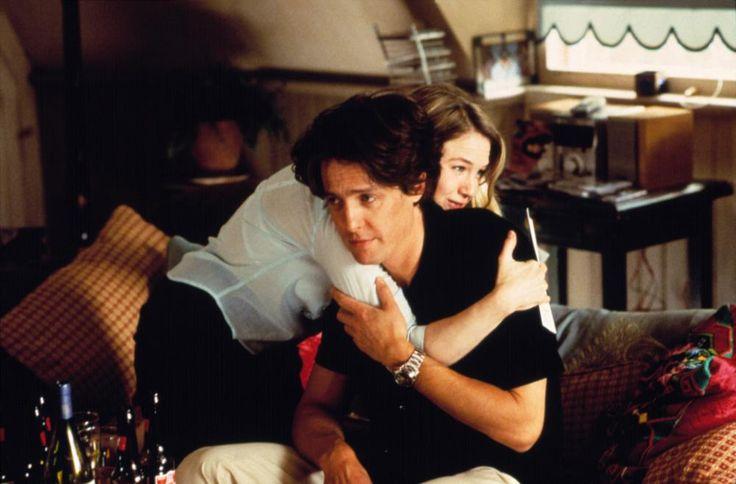 BRIDGET JONES'S DIARY, Renee Zellweger, Hugh Grant, 2001  | Essential Film Stars, Hugh Grant http://gay-themed-films.com/film-stars-hugh-grant/