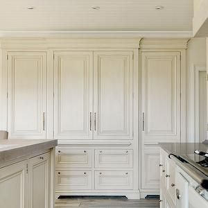 Andrew Ryan Kitchens Beadboard Kitchen Ceiling Full Height Pantry Cabinets Floor To