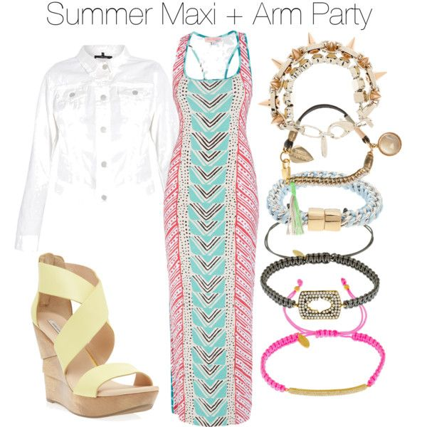 """""""Summer Maxi + Arm Party"""" by boutique1 on Polyvore"""
