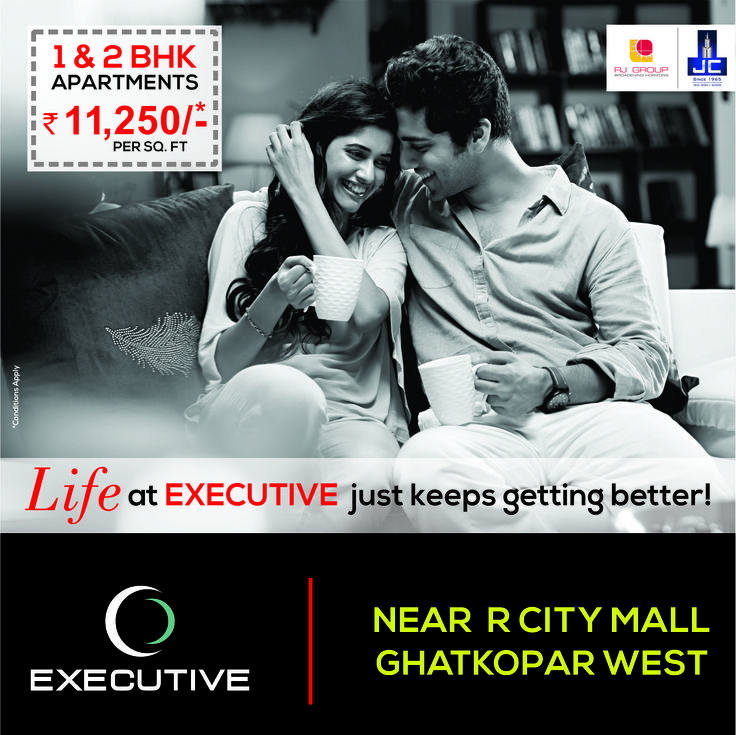 Enjoy every bit of #JayceeLifestyle by booking your 1 & 2 BHK Homes @Rs. 11,250/- Per Sq. Ft. onwards in #Executive by RJ Group and Jaycee Homes. For more information visit: www.executivebyjayceehomes.com
