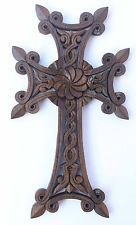Wooden Cross Armenian Christianity For Wall Pendant Infinity gift wood art decor
