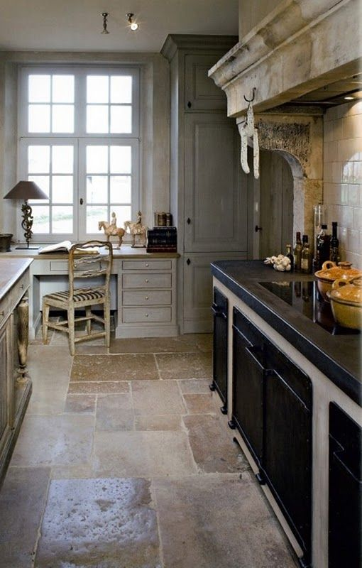 Such a beautiful & warm kitchen, even with all the stone