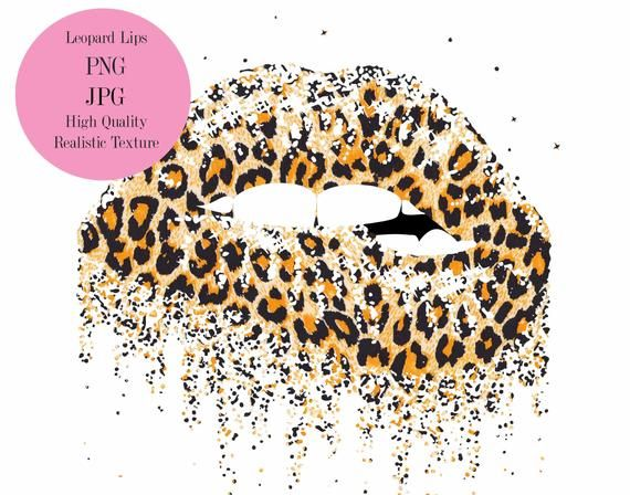 Dripping Lips Leopard Lips Leopard Lips Sublimation Leopard