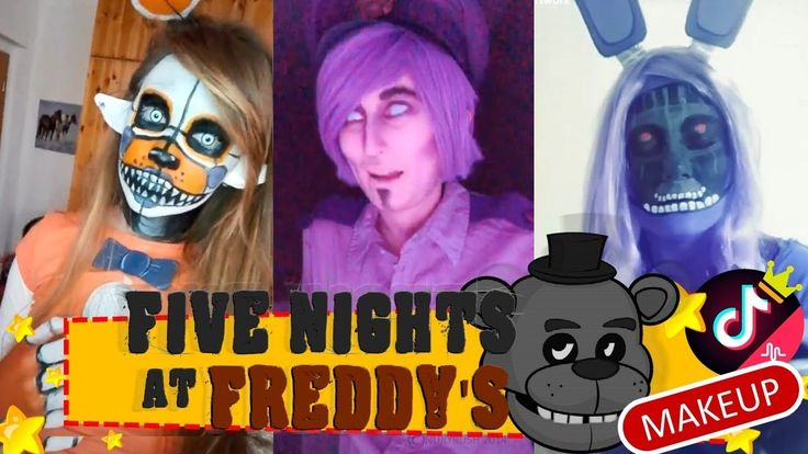 Cosplay FNAF Makeup Freddy, Mangle, Foxy And More The