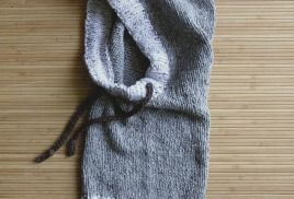 hooded cowl, hooded scarf, hood / капюшон снуд манишка