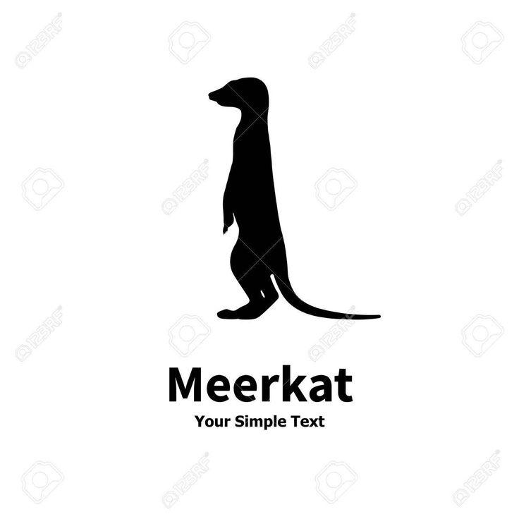 Vector Illustration Of A Silhouette Standing Meerkat