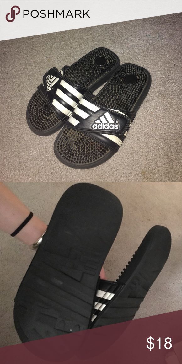 d70928d3a18 Adidas slides Adidas slides from the 90s... literally, old but good  condition. Light wear. I could wash them up before sending them o…