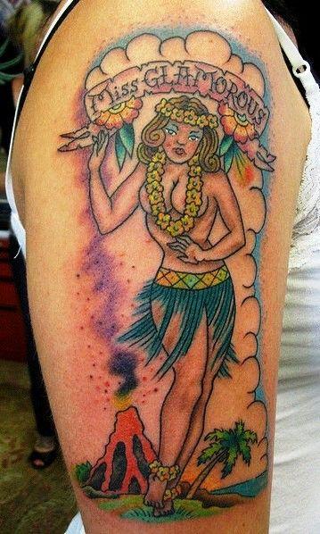 Hawaiian Girl Tattoo Ideas On Right Arm Ideas - http://tattoosaddict.com/hawaiian-girl-tattoo-ideas-on-right-arm-ideas.html #Arm, #Girl, #Hawaiian, #HawaiianTattoo, #HawaiianTattoos, #Ideas, #On, #Right, #Tattoo