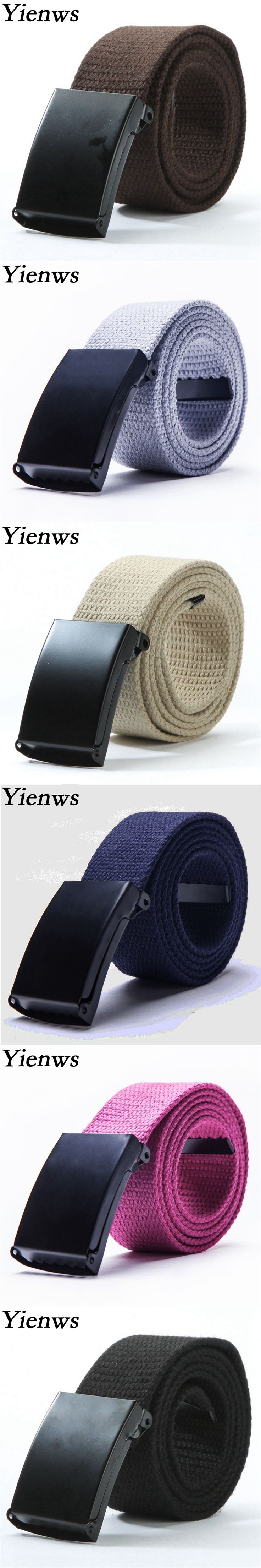 Yienws Western Cowboy Belt For Girl Kemer Boy Belt Strap For Jeans Canvas Belt Outdoor YB003