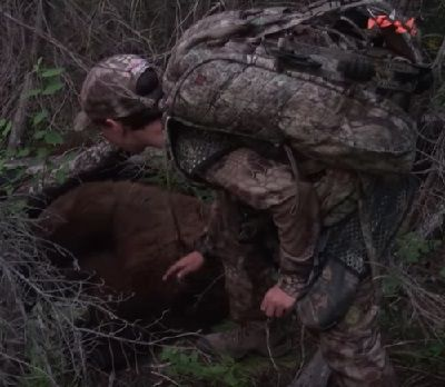 Birth of a Bowhunter - Watch Jaken Warnke Shoot His FIrst Animal with a Bow (Video)