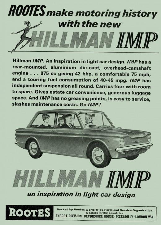 Hillman Imp - autumn 1963