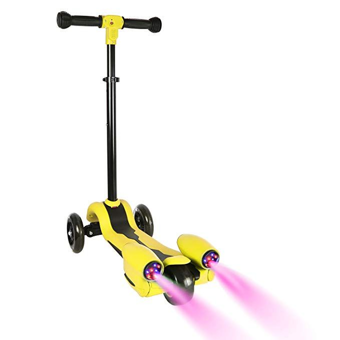 Wdtpro Kick Scooter For Kids Atomizing Kid Scooters With Led