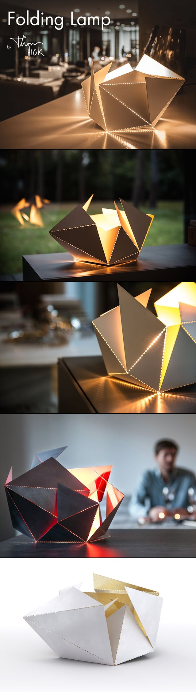 Folding Lamp by Thomas Hick