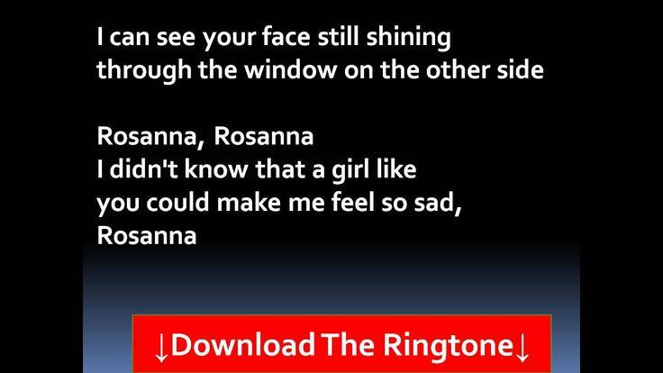 Toto - Rosanna  Lyrics