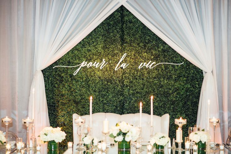 Photography : Julie Pepin Photography | Hotel : Fairmont Miramar Hotel | Floral Design : Moon Canyon | Event Planning & Design : Lady Liberty Events | Wedding Dress : Monique Lhullier Read More on SMP: http://www.stylemepretty.com/california-weddings/santa-monica/2017/02/06/event-planner-weds-in-serious-style-in-santa-monica/