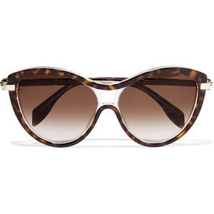 Alexander McQueen Round-frame acetate and metal sunglasses