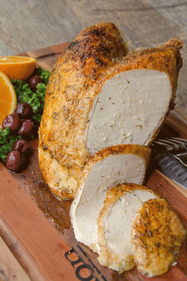 Air fried maple turkey breast