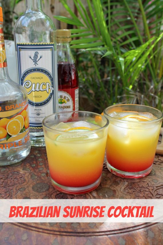 Brazilian Sunrise Cocktail | How to be awesome on $20 a day