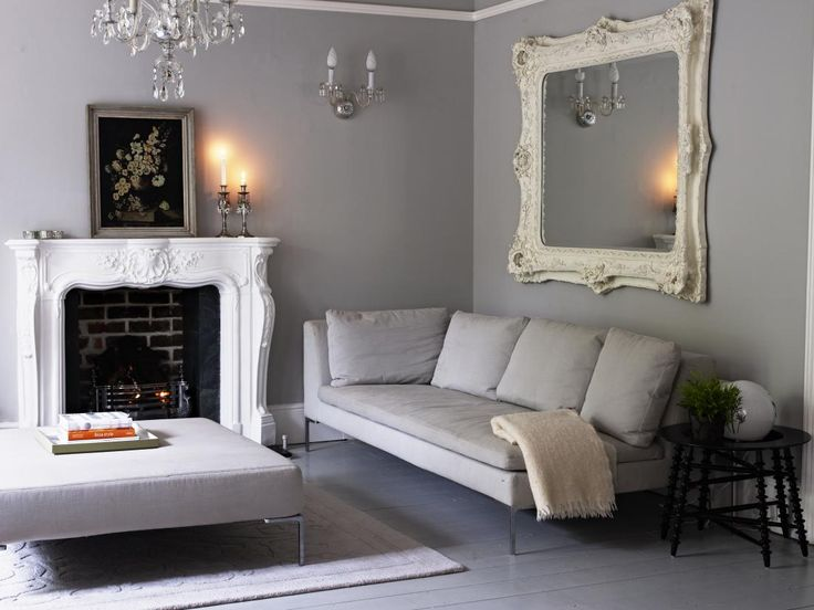 I love this living room, tone down the mirror and chandelier.