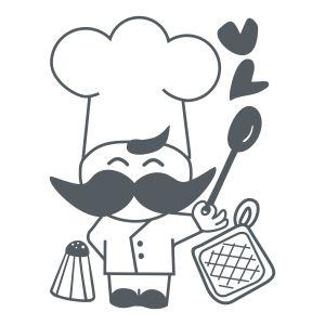 Chef Feliz- vinilo decorativo Cocina