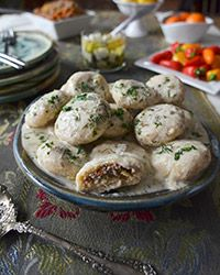 Kotulk daw are hearty Kurdish dumplings are filled with a nicely seasoned mix of beef and lamb and simmered in a tangy, tasty broth. This is Andrew Zimmern's recipe.  Can't wait to make these!  * * * * * * * * * *  ...and check out our free weekly meal plans and shopping lists at:   http://www.simplysmartdinnerplans.com