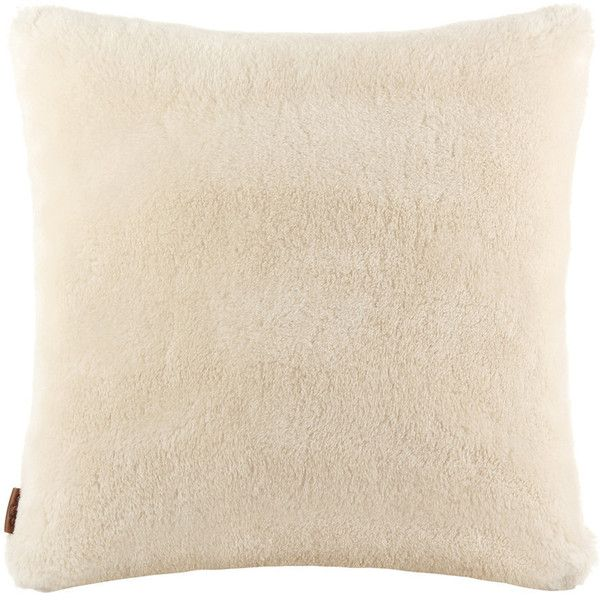 UGG® Classic Pillow - 60x60cm - Natural ($204) ❤ liked on Polyvore featuring home, home decor, throw pillows, neutral, neutral throw pillows, ugg and textured throw pillows