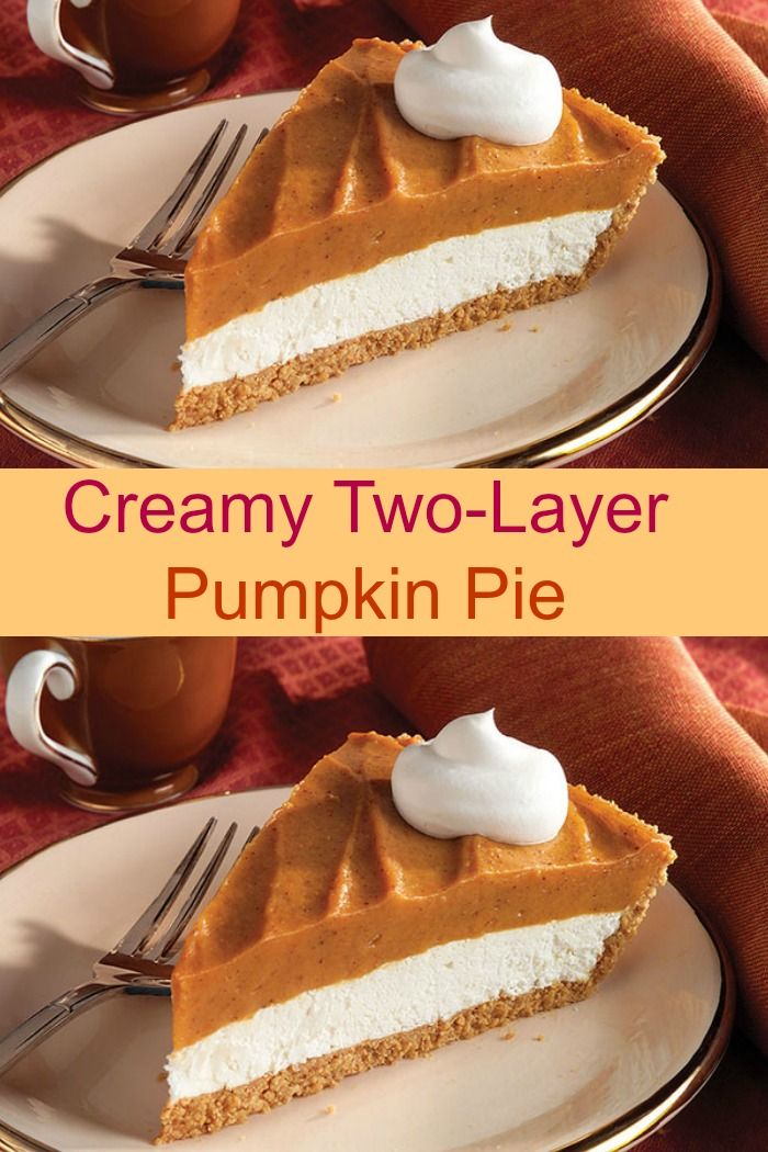 Creamy Two-Layer Pumpkin Pie                                                                                                                                                                                 More