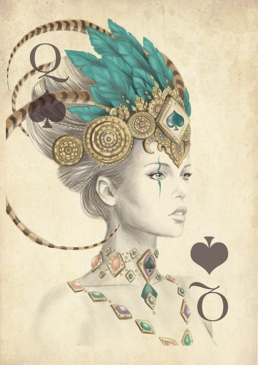 the 25 best queen of spades ideas on pinterest queen of spades tattoo playing card tattoos. Black Bedroom Furniture Sets. Home Design Ideas