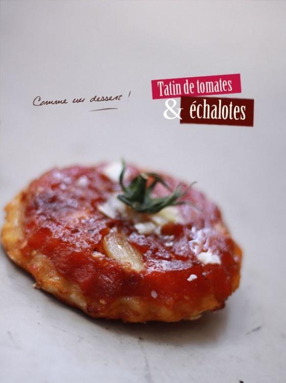 Tarte tatin tomates échalotes