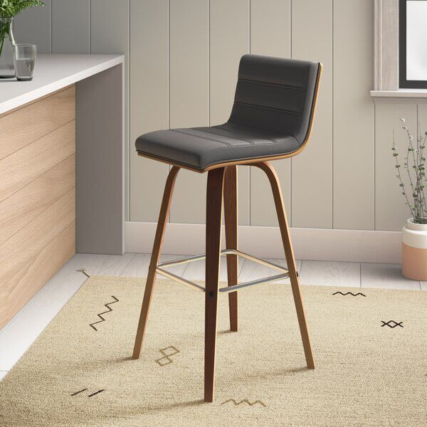 Trystan Swivel Bar Counter Stool In 2020 Counter Stools Leather Counter Stools Swivel Counter Stools