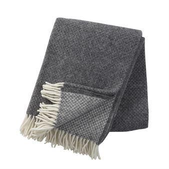 Vega wool throw - grey - Klippan Yllefabrik