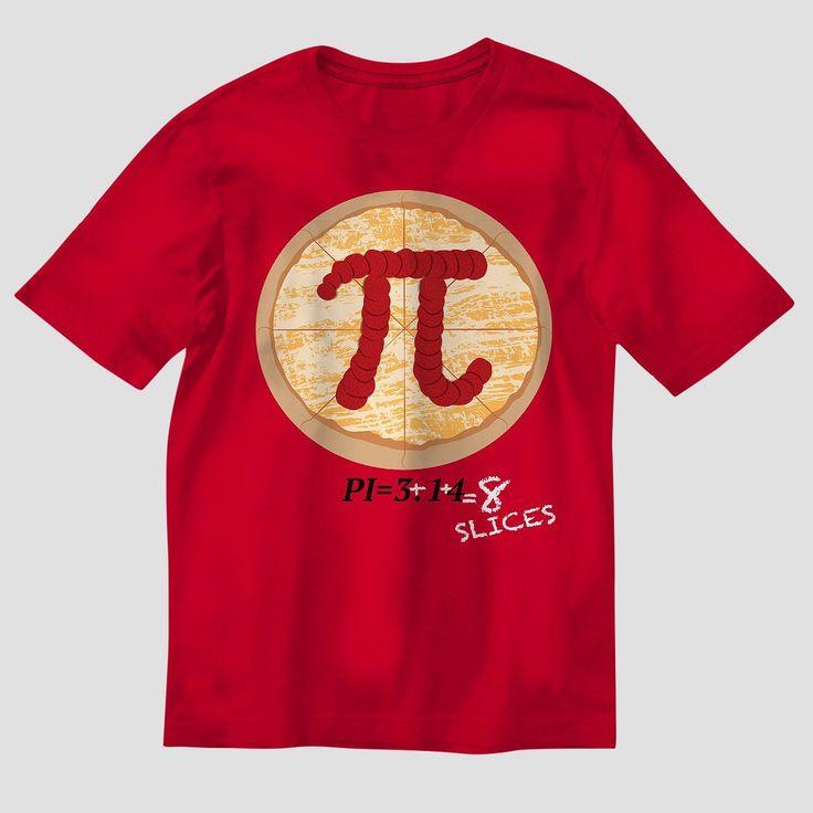 Boys' Pizza Pi T-Shirt - Red Xxl