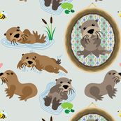 Sea Otter Fabric_from Spoonflower