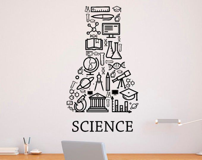 Science Decal Science Wall Decal Classroom Wall Decal Etsy Vinyl Wall Decals Science Classroom Decorations Classroom Walls