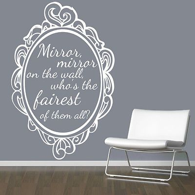 Exceptional Mirror #mirror On The Wall Snow White Quote Wall #sticker / Fairytale /  #storyboo, View More On The LINK: Http://www.zeppy.io/product/gb/2/17185274u2026 Part 30