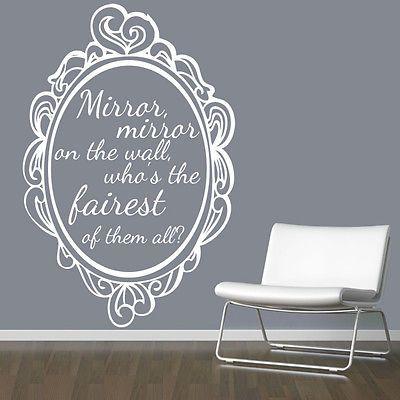 Mirror Mirror On The Wall Snow White mirror #mirror on the wall snow white quote wall #sticker