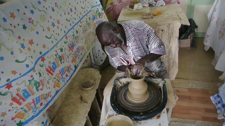 See a master Barbados potter at work...
