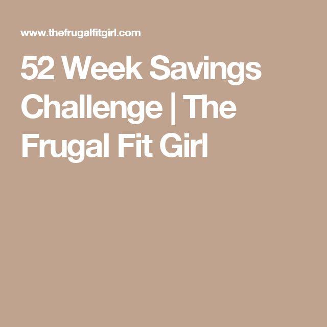 52 Week Savings Challenge | The Frugal Fit Girl