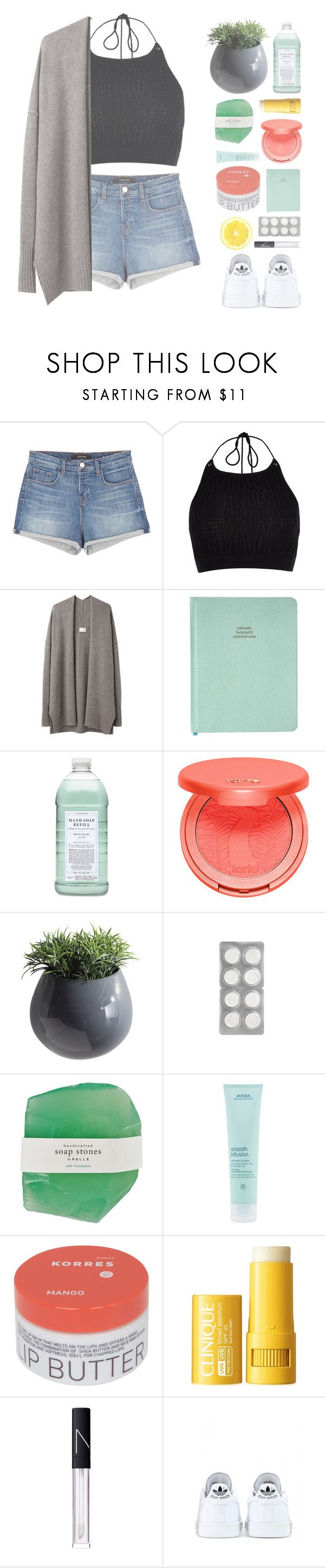 """""""▿ little things"""" by xhopefulromanticx ❤ liked on Polyvore featuring J Brand, River Island, Giada Forte, Williams-Sonoma, tarte, Dot & Bo, Aveda, Korres, Clinique and NARS Cosmetics"""
