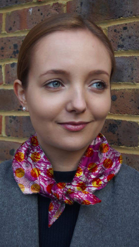 Folk Dolls Silk Neckerchief Scarf in 2 sizes £65.00