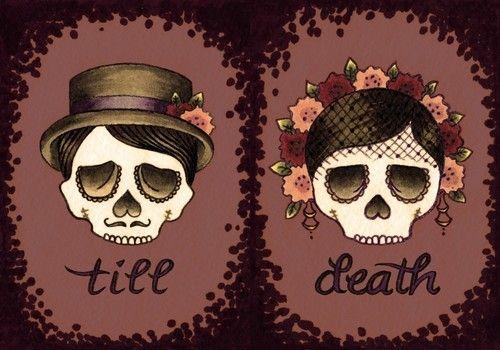 till death skulls illustration