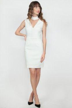 Bailey 44 Nadja Choker Dress in Ivory | www.shopblueeyedgirl.com