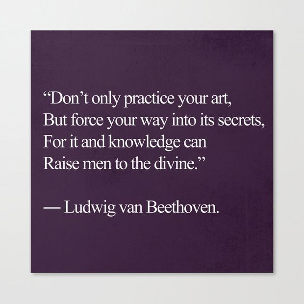 Don't only practice your art, but force you way into its secrets, for it and knowledge can raise men to the divine