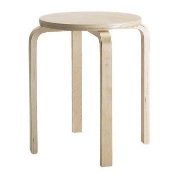 Ikea Frosta - Taburete (madera de abedul, apilable)