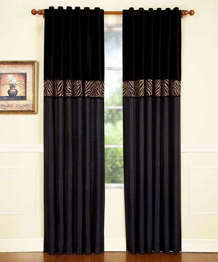 Home Fashions International Black Amp Tan Zebra Curtain
