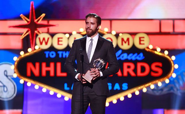 Congratulations, Aaron Ekblad for winning the Calder Memorial Trophy!  Teammates and fans show their support for the Panthers rookie.