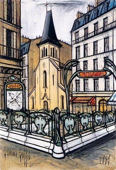 Bernard Buffet, Saint-François de Salle et la rue Brémontier - 1989, oil on…