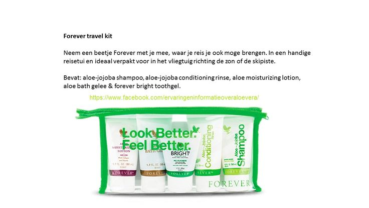 aloe vera forever travel kit